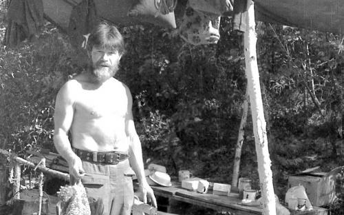 Вениамин Гилев в верхнебуреинской тайге